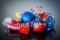 Decorações do Natal coloridas Fotos de Stock Royalty Free