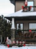 Decorações do Natal com Papai Noel Imagens de Stock Royalty Free