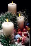 Decorações do Natal com velas Foto de Stock