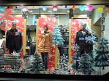 Decorações do Natal da loja de roupa de China Imagem de Stock