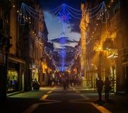 Decorações do Natal da rua fotos de stock royalty free
