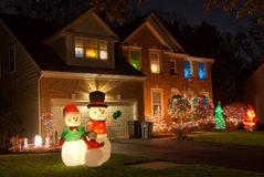 Decorações do Natal da vizinhança Imagem de Stock