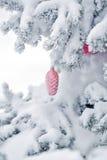 Decorações do Natal do cone do pinho do brinquedo Foto de Stock Royalty Free