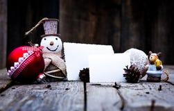 Decorações do Natal do vintage Fotos de Stock