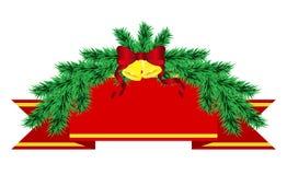 Decorações do Natal dos pinheiros Fotografia de Stock