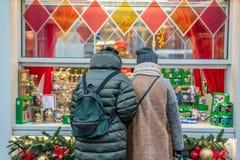 Decorações do Natal em Moscou Foto de Stock
