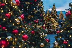 Decorações do Natal em Moscou fotos de stock royalty free