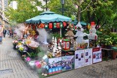 Decorações do Natal em Shanghai, China Fotografia de Stock