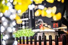 Decorações do Natal em torno do estádio das panteras de carolina no charlo Imagem de Stock