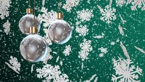 Decorações do Natal em um ciano ilustração stock