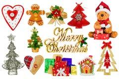 Decorações do Natal em um fundo branco foto de stock royalty free