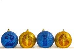 Decorações do Natal em um fundo branco Fotos de Stock Royalty Free