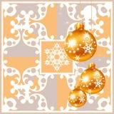 Decorações do Natal em um fundo cinzento Imagens de Stock Royalty Free
