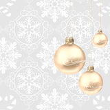 Decorações do Natal em um fundo cinzento Fotografia de Stock Royalty Free