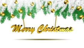 Decorações do Natal, Feliz Natal, ilustração 3D Foto de Stock