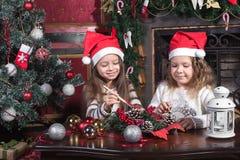 Decorações do Natal internas imagens de stock royalty free