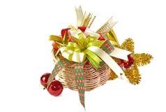 Decorações do Natal, isoladas no branco Fotos de Stock