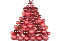 Decorações do Natal isoladas no branco Fotos de Stock Royalty Free