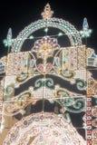 Decorações do Natal na cidade de Moscou Fotografia de Stock Royalty Free