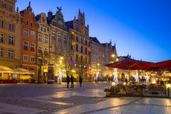 Decorações do Natal na cidade velha de Gdansk, Polônia Imagem de Stock Royalty Free