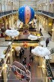 Decorações do Natal na GOMA - shopping em MOSCOU Fotografia de Stock