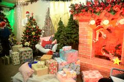 Decorações do Natal na loja polonesa Imagens de Stock Royalty Free