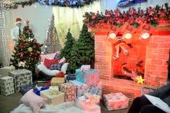 Decorações do Natal na loja polonesa Imagens de Stock