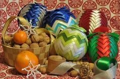 Decorações do Natal Natal Noite de Natal Ornamento do Natal Fotos de Stock