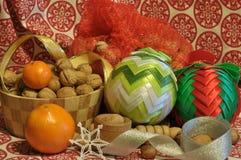 Decorações do Natal Natal Noite de Natal Ornamento do Natal Fotografia de Stock