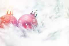 Decorações do Natal no azul Fotos de Stock