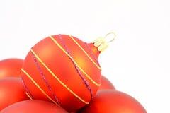 Decorações do Natal no fundo branco Fotos de Stock Royalty Free
