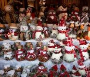 Decorações do Natal no mercado Foto de Stock