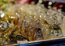 Decorações do Natal no mercado em Viena, Áustria imagens de stock