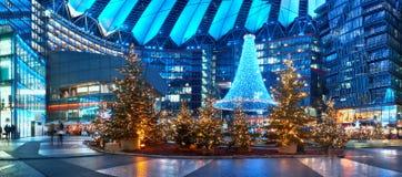 Decorações do Natal no quadrado de Potsdammer em Berlim Fotos de Stock Royalty Free