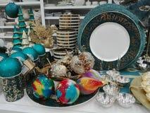 Decorações do Natal para a venda Fotos de Stock Royalty Free