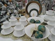 Decorações do Natal para a venda Imagens de Stock Royalty Free