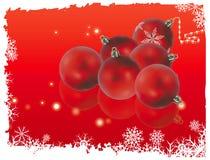 Decorações do Natal vermelhas Fotos de Stock