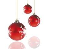 Decorações do Natal vermelhas Imagem de Stock Royalty Free