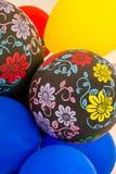 Decorações do partido do balão imagens de stock
