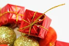 Decorações do ` s do ano novo Fotos de Stock Royalty Free