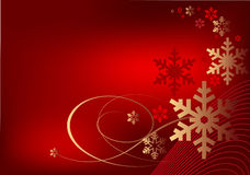 Decorações do vermelho do fundo do Natal Imagens de Stock Royalty Free