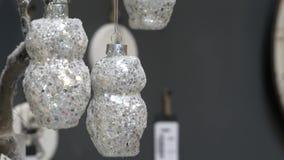 Decorações do White Christmas no fundo video estoque