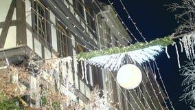 Decorações dos feriados de inverno video estoque