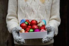 Decorações dos feriados disponivéis foto de stock