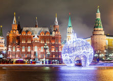 Decorações e arquitetura de Moscou Fotografia de Stock