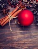 Decorações e especiarias do Natal Imagem de Stock Royalty Free