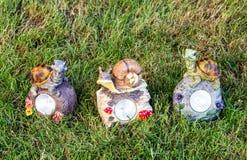 Decorações e iluminação do jardim foto de stock royalty free