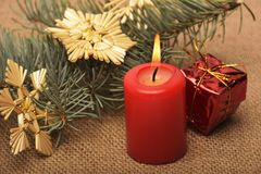 Decorações e ornamento de um Natal Foto de Stock