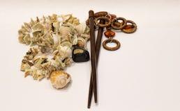 Decorações e shell Imagem de Stock Royalty Free