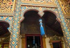 Decorações em um templo de budistas Fotografia de Stock